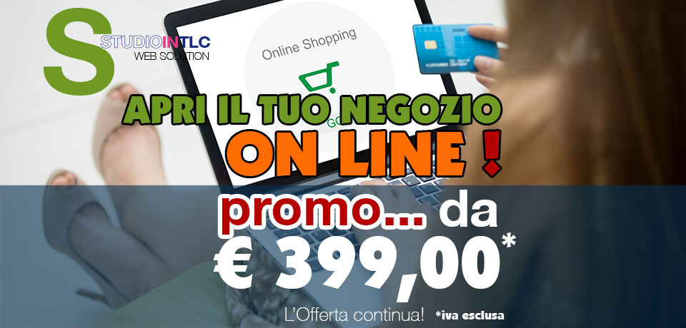 Offerta sito E-Commerce euro 399.00